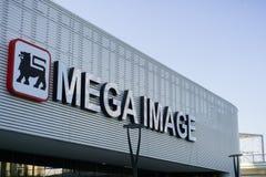Mega Image logo royalty free stock images