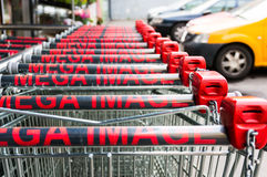 Mega image shopping carts Royalty Free Stock Image