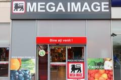 Mega Image supermarket Stock Photos