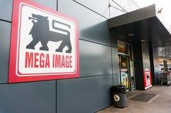 Mega image supermarket stock photography