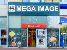 Mega Image supermarket royalty free stock image