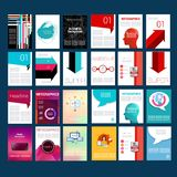 Mega Infographic Template Pack. Design Set of Web Royalty Free Stock Images