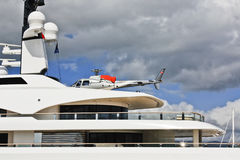 Mega jachtu zakończenie w górę 0005 Fotografia Stock