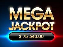Mega Jackpot banner vector illustration