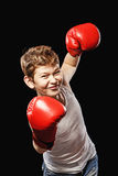 Mega kick boxer Stock Photography