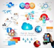 Mega kolekcja ilości Infographics przedmioty Fotografia Stock