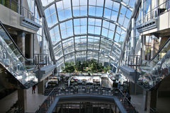 Mega mall window Royalty Free Stock Photo
