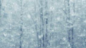 Mega massive extra big global defocus snowfall stock video footage