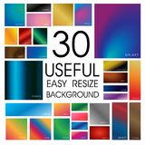 Mega pack of easy useful gradient background template Royalty Free Stock Photos