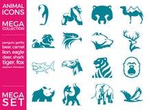 Mega Pack and Mega Set Vector Animals Icons Set. EPS 10 Stock Image