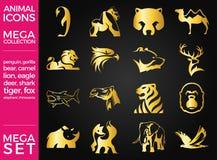 Mega Pack and Mega Set Vector Animals Icons Set. EPS 10 Stock Photo