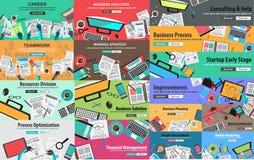 MEGA PACKE av designbegrepp för affärsstrategi Royaltyfri Fotografi