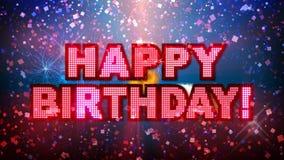 Mega parti för lycklig födelsedag! royaltyfri illustrationer