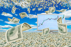 Mega profits. Stock Photos