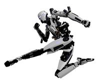 Free Mega Robot Super Drone In A White Background Stock Images - 138121344