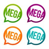 Mega round Buttons. Circle Eps10 Vector. Hipster mega buttons in different colours royalty free illustration
