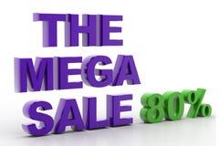 The  mega  sale Royalty Free Stock Photo
