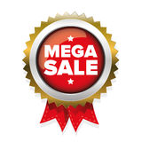 Mega Sale badge vector Stock Images