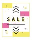 Mega Sale baner Royaltyfria Foton