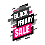 Mega sale banner, Black and pink colors. Stock Photo
