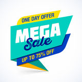 Mega Sale banner Stock Images