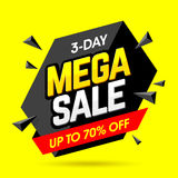 Mega Sale banner design template Royalty Free Stock Photos