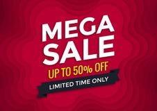 Mega sale banner design Stock Photo