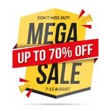 Mega Sale Banner Stock Photo