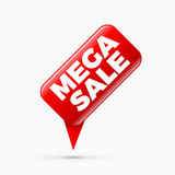 Mega sale banner, limited time only Royalty Free Stock Image