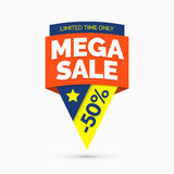 Mega sale banner, limited time only Royalty Free Stock Photography