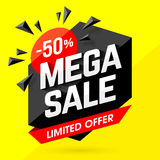 Mega Sale banner Royalty Free Stock Images