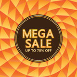 Mega Sale circle ray template Royalty Free Stock Images