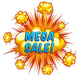 Mega sale Royalty Free Stock Images