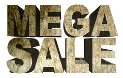 Mega Sale Concrete Sign Stock Image