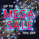 Mega sale cover template RGB Royalty Free Stock Photography