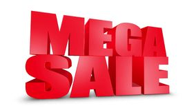 Mega Sale 3D Text Come Down 3D Animation Render.