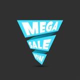 Mega sale design template. Creative banner. Vector illustration, Royalty Free Stock Photography
