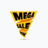 Mega sale design template. Creative banner. Vector illustration, Royalty Free Stock Images