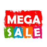 Mega sale drawn label Stock Photography
