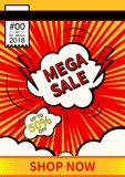 Mega Sale. Final sale poster or flyer design. Sale on colorful background. Vector illustration. Mega Sale. Final sale poster or flyer design. Sale on colorful Royalty Free Stock Photography
