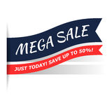 Mega sale flat icon Royalty Free Stock Photography