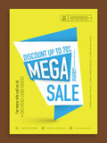 Mega sale flyer, banner or template. Royalty Free Stock Photography