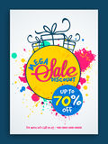 Mega Sale Flyer or Sale Banner. Royalty Free Stock Image