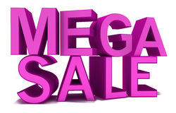 Mega Sale isolated on white pink words Stock Images