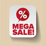Mega sale label vector Stock Image