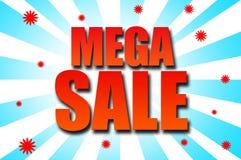Mega Sale malldesign Arkivfoton