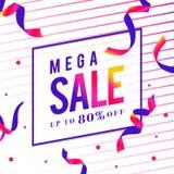 Mega sale 80% off sign vector royalty free illustration