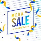Mega sale 80% off sign vector vector illustration