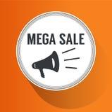 Mega Sale Paper Folding Design Royalty Free Stock Photography