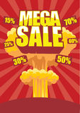 Mega sale poster Stock Photo